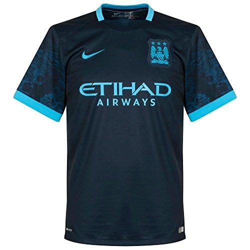 Manchester City Away Jersey (Nike Mens Manchester City Away Stadium Jersey [DARK OBSIDIAN] (M))