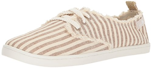 Donna Sneaker - Sanuk Women's Maisie Sneaker, Natural Stripes, 07 M US