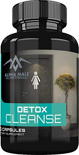 Detox Cleanse for Weight Loss by Alpha Male - Extra Strength Detox Cleanse for Constipation Relief. Detox Cleanse Pills for Men & Women. Flush Toxins, Boost Energy. Safe & Effective for Everyday use.