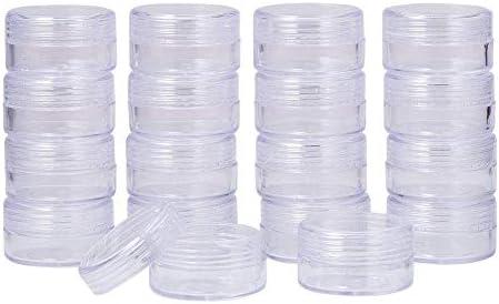Dealglad 50pcs 10g Empty Transparent Plastic Cosmetic Containers Cream Lotion Box Ointments Bottle Makeup Pot Jar