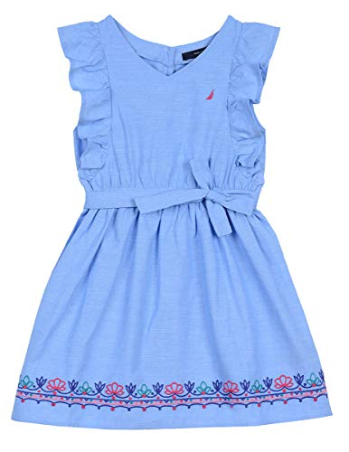 Denim Girls Dress - Nautica Girls' Denim Dress chambray true blue 4