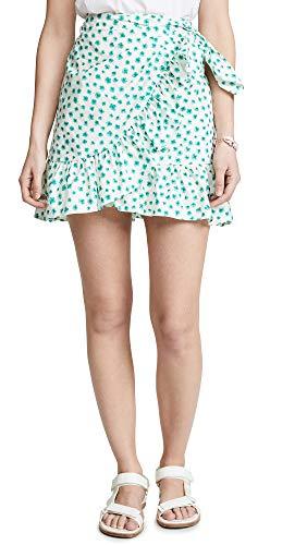 Rebecca Taylor Women's Emerald Daisy Skirt, Cream Combo, Green, Floral, 0
