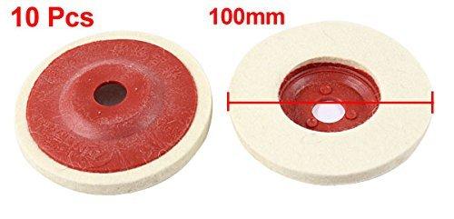 10 piezas de 100 mm Diámetro externo de Metal pulido de la muela abrasiva Disco Rojo amarillento by eDealMax