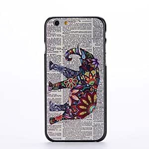 LIMME Flower Elephant Design Pattern Plastic Hard Back Cover for iPhone 6 Plus