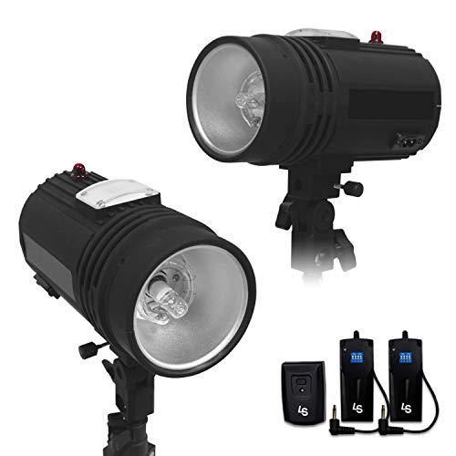 LimoStudio 200 Watt Flash Strobe Light, Sync Cord, Fuse, Test Button, Wireless Triggering Available, Umbrella Input, TEMAGG2831