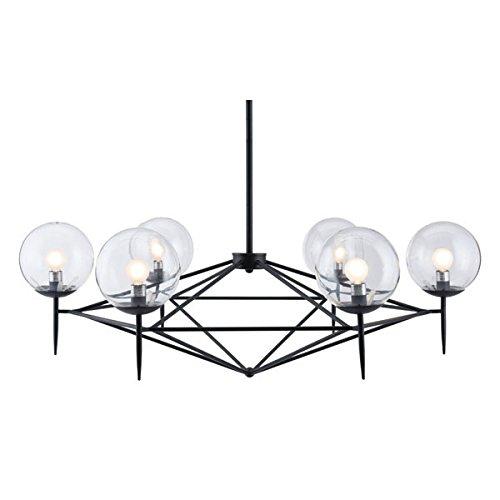 Zuo 56064 Carmine Ceiling Lamp, Black