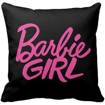 Damuyas Black Barbie Girl Pillow Case Decorative Throw Pillowcase Cushion Cover Decor (1#)