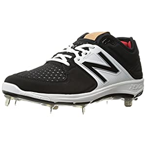 New Balance Men's L3000V3 Baseball Shoe, Black/White, 11 D US