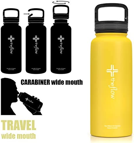 Favelle Favco Steel Water Bottle with Flow Valve and Straw