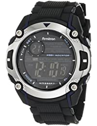 Men's 408232BLU Chronograph Black and Blue Accented Digital Watch