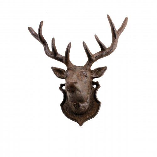 Moose House Plaque (Deer Wall Accent, Cast Iron Rustic, Sign Plaque, Lodge Decor, 10-inch)