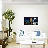 Bilder-Afrika-Lwe-Wandbild-70-x-40-cm-Vlies-Leinwand-Bild-XXL-Format-Wandbilder-Wohnzimmer-Wohnung-Deko-Kunstdrucke-Blau-1-Teilig-MADE-IN-GERMANY-Fertig-zum-Aufhngen-022914a