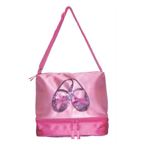 Horizon Dance 3402 Satin and Sequins Ballet Shoes Tote Bag for Little Girls ()
