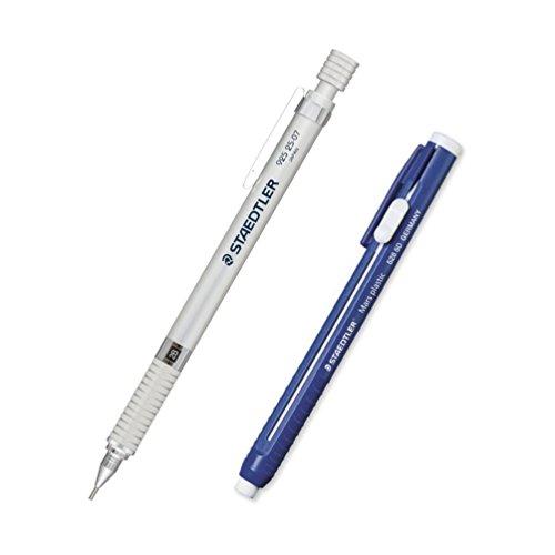 Mechanical Pencil 925 25 07mm Silver & Stick Pencil Eraser (Staedtler Stick Eraser)