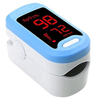 Pulse Oximeter Fingertip, OSGP Upgraded SpO2 Blood Oxygen Saturation Monitor, Heart Rate Monitor, Portable Pulse Oximetry with Lanyard (Blue)