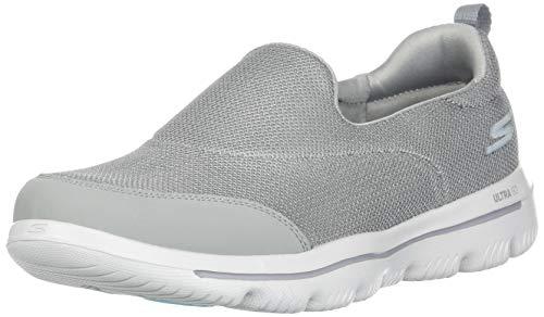 Skechers Women's GO Walk Evolution Ultra-Reach Sneaker, Gray, 10 M US