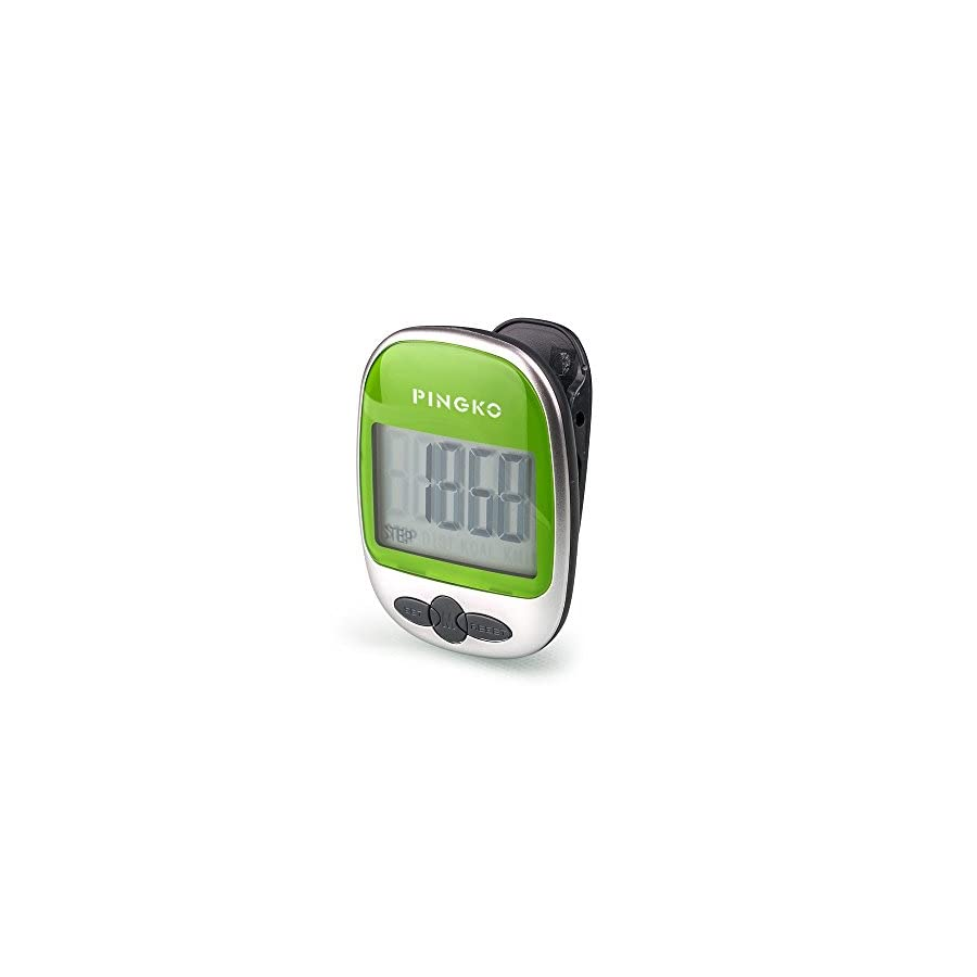 PINGKO Outdoor Multi Function Portable Sport Pedometer Step/Distance/Calories/Counter Green