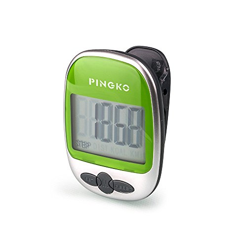 PINGKO Outdoor Multi-function Portable Sport Pedometer Step/distance/calories/ Counter – Green