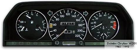 Tachodekorset Chrom Für Benz C Klasse W201 1982 1993 Auto