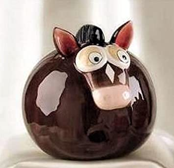 Gift Craft Ceramic Pot Belly Animal Banks Horse