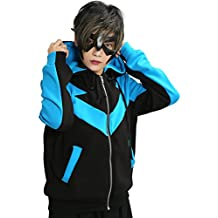 XCOSER Nightwing Hoodie Jacket Sweatshirt Costume for Halloween Large