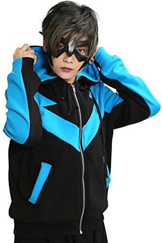 [XCOSER Nightwing Hoodie Jacket Sweatshirt Costume for Halloween XX-Large] (Nightwing Halloween Costumes)