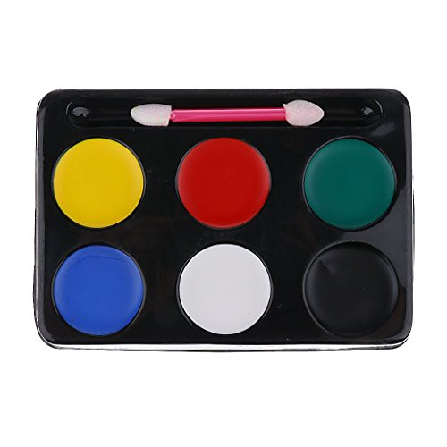 EBTOYS Face Body Painting Kit 6 Colours Make Up Face Paint Palette Great for Halloween, Theme Parties, Cosplay, Fancy Dress Ball, Stage Performance ()