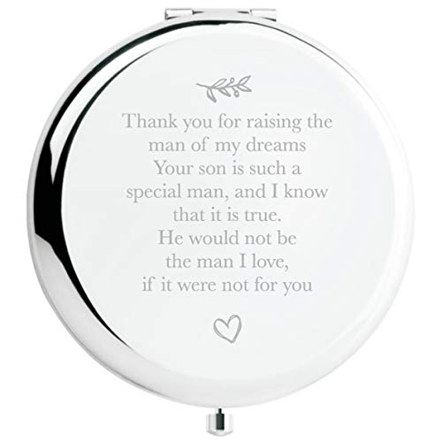 Mother of The Groom Gifts from Bride, Wedding Keepsake Gift,Great Gifts Present for Mom Mommy Mother(Silver, Mother of The Groom)