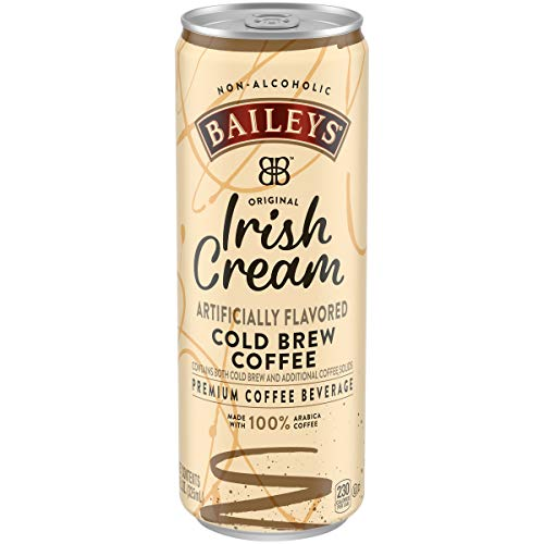 Baileys Non-Alcoholic Original Irish Cream Flavored Cold Brew Coffee, 11 fl oz can (Pack of 12)