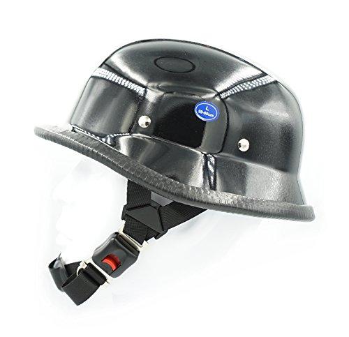 (Hot Rides Chopper Biker Motorcycle Helmet Novelty German Gloss Black (Medium))