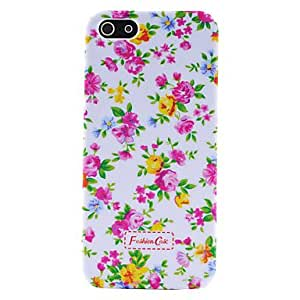 Small Fresh Florals Pattern Plastic Hard Case for iPhone 5/5S