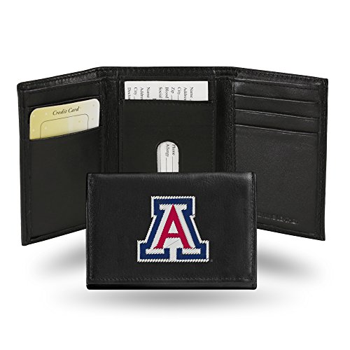 - Rico Industries NCAA Arizona Wildcats Embroidered Leather Trifold Wallet