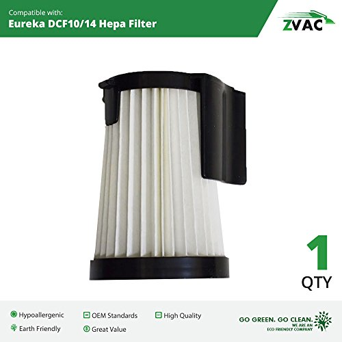 1 Eureka DCF-10 & DCF-14 HEPA Filter Generic Part By ZVac. Replaces Part Numbers DCF14, DCF10, 62731A, 62731B Fits: 430 Series Lightweight Uprights Including Stick Vacuum 431A, 426A, (Eureka Optima Hepa Filter)