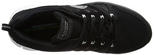 Noir de Flex Sport Chaussures Bkw Advantage Homme Skechers Edt7qxnYwt