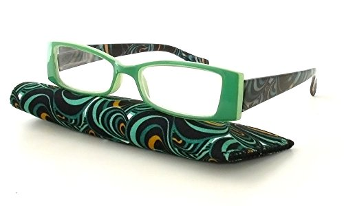 Calabria Victoria Designer Reading Glasses in Mint ; +2.50