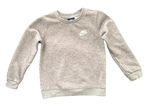 Nike Infant Toddler Pullover Sweatshirt Top (2T, Grey) (Designer Kids Clothing)