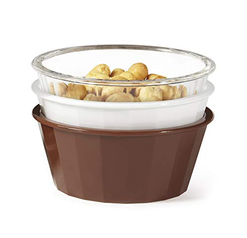 G.E.T. Enterprises ER-045-CL 4 oz. Fluted Ramekin, Break Resistant, San, Clear (Pack of 12)
