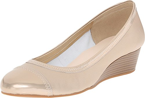 Cole Haan Women's Elsie II Wedge Pump,Soft Gold Metallic Leather,US 9 B