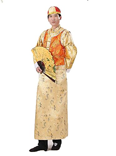 Bysun Princes of the Qing Dynasty costumes Yellow Bottoming-shirt&Rose Red (Qing Emperor Costume)