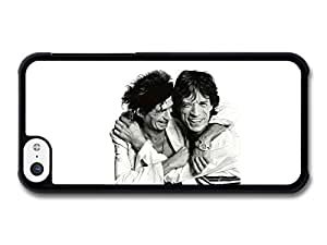MMZ DIY PHONE CASEMick Jagger and Keith Richards Laughing Black and White The Rolling Stones case for iphone 4/4s
