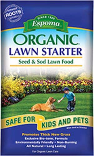 Espoma LS36 Organic Lawn Starter Seed and Sod Food Fertilizer, 36 lb
