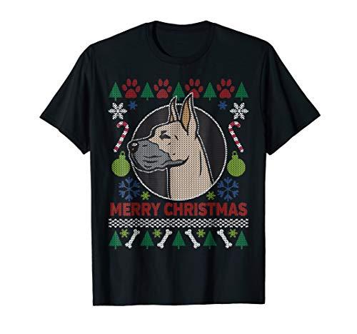 Great Dane Dog Ugly Christmas T-shirt