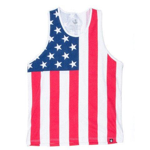 Rowdy Gentleman Men's American Flag Tank Top (Large, American Flag) (Top American Tank)