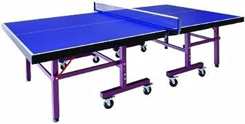 Mesa de Ping Pong de interior 25mm doble plegado: Amazon.es: Juguetes y juegos