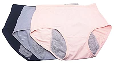 Women Menstrual Period Briefs Leakproof Panties Postpartum Bleeding underwear?pack of 3)