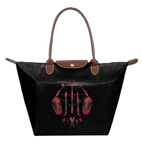 [Women's Walking Dead Daryl Foldable Large Tote Bags Shopping Beach Shoulder Handbags Purse] (Gma 2016 Costumes)