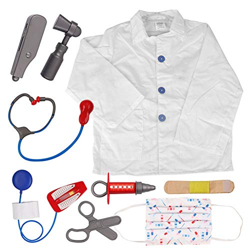 Halloween Ideas For Dramatic Play (TOPTIE Doctor Nurse Role Play Set Dress Up Surgeon Costumes Set for Kids Great Gift)