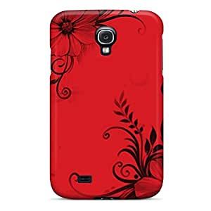 Fashionable DYLsgjd5667rQjll Galaxy S4 Case Cover For Floral Red And Black Protective Case