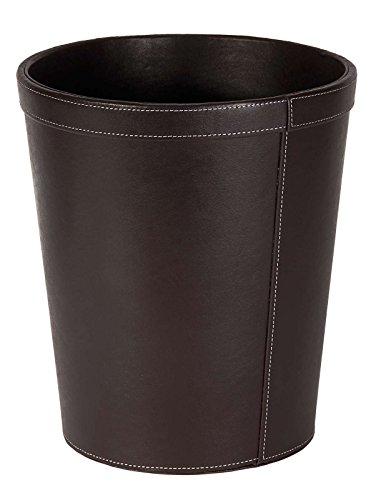 Osco 29 cm, Style Worx Papierkorb aus Kunstleder, Braun