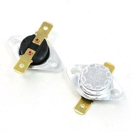 Interruptor controlado plástico eDealMax KSD301 110C 250V 10 Amp NC Temperatura (2 piezas)